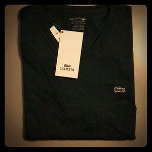 Lacoste Mens V Neck Shirt